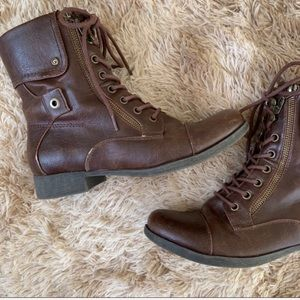 G by Guess Shoes - G by Guess Brown Moto Boots